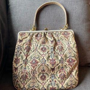 Vtg Saks Fifth Ave brocade/tapestry purse